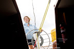 Jessica Watson on deck