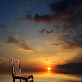 kursi tua by Indra Prihantoro - Artistic Objects Furniture ( chair, sunset, Chair, Chairs, Sitting )