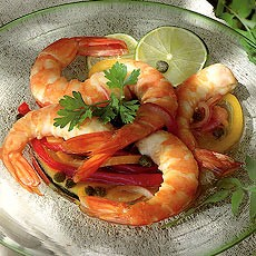 Hot and Sour Pickled Prawns
