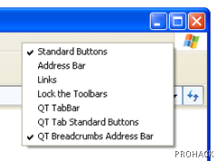 Right Click on toolbars and select QR Breadcrumbs Address Bar