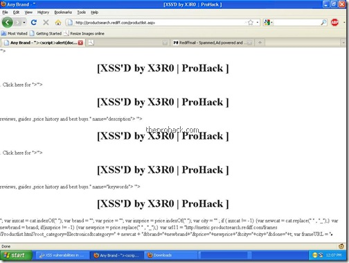 rediff XSSD..again &amp; again &amp; again - theprohack.com