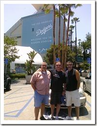 In front of Dodgers Stadium