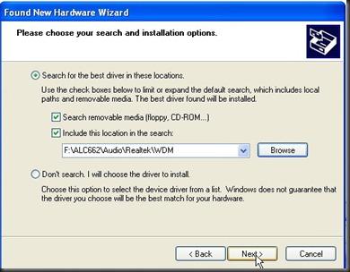 Found New Hardware Wizard3