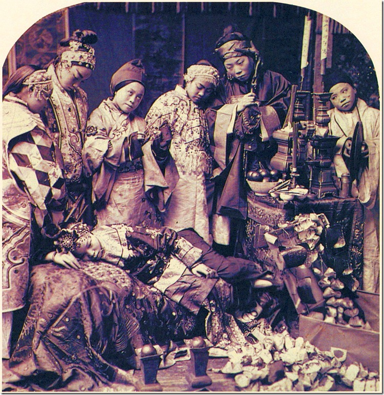 Ceremony of Driving Away the 72 Malignant Spirits, Canton, China, circa 1886, Photographer unknown