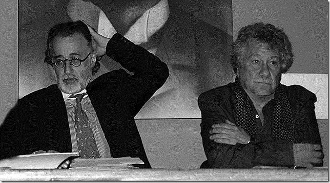 CULTURA_7_Los poetas Pedro Alejo Gómez y Juan Manuel Roca Vidales cobrando en honor de José Asunción Silva.