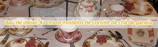 42 modelos cha de panela 42 novos modelos de convite de chá de panela