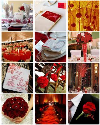 Inspiration%20board%20 %20The%20Knot Baú de ideias: Casamento vermelho e branco