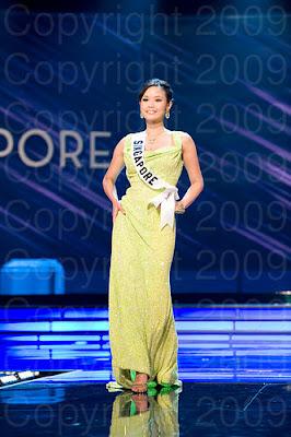 singapura Miss Universo 2009: Inspirações para vestidos de madrinha e noiva