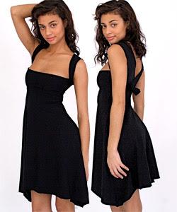 robe american apparel bandeau noire