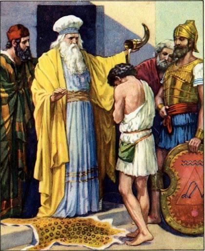 Samuel pomazuje Davida