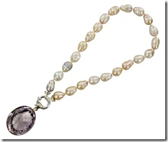pearl by elise with amethyst