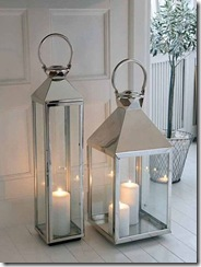 Nordic House Stainless Steel Lanterns