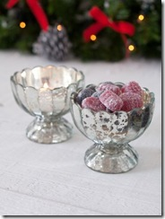 Silvered Glass Bowl