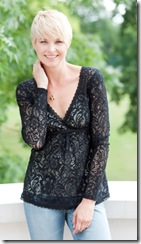 Karen Cole Black Lace Top