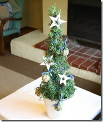 Plants for Presents Decorated Rosemary Tree