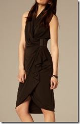 all saints black dress on model