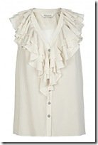 all saints ruffled blouse