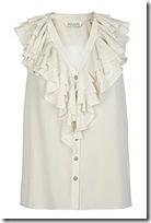 all saints ruffled blouse