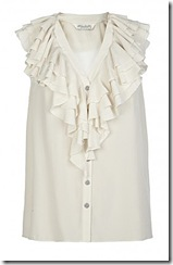 all saints ruffled shirt