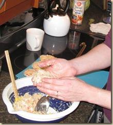making crab cakes