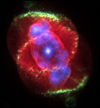 cat's eye nebula - red rose nebula