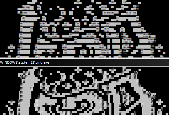 Top: Notepad++'s rendering of ANSI characters