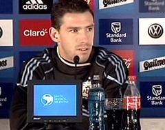 Maxi Rodríguez en conferencia de prensa