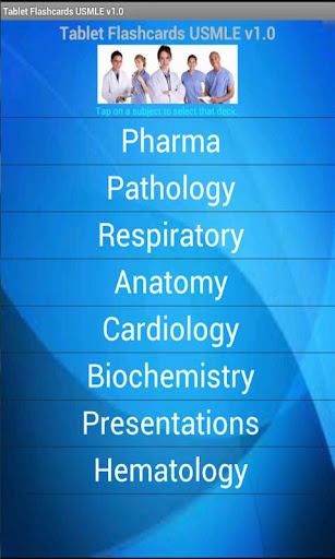Tablet Flashcards USMLE
