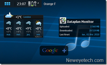 Widget Dataplan Monitor