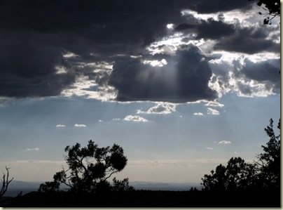 08 Sun through clouds over Crazy Jug Point Kaibab NF AZ