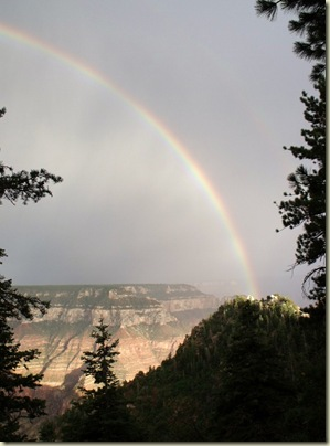 03 Rainbow over Walhalla Plateau from BAP trailhead NR GRCA NP AZ (755x1024)
