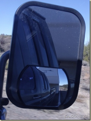 05 Looking in side mirror at RV Hwy 74 W by Lake Pleasant AZ (768x1024)