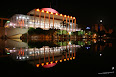 Foto nocturna del Palau de la música