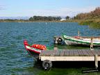 Foto de unas barcas en la Albufera