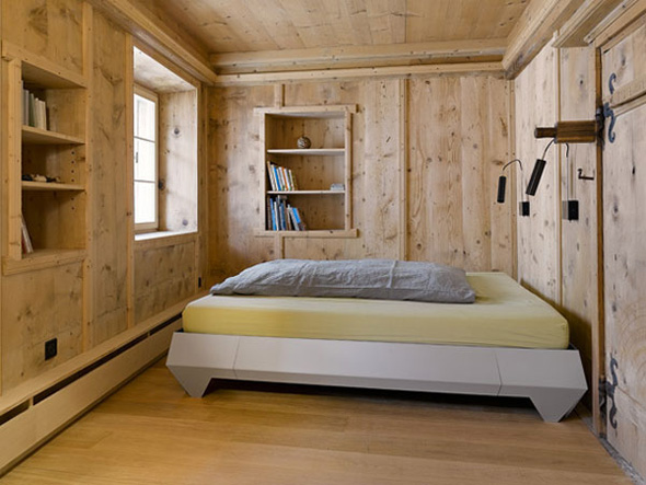 natural wood wall bedroom interior design