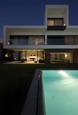 minimalist concrete house frame decorating design
