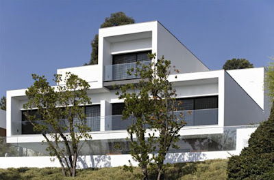 luxury white concrete house architecture design