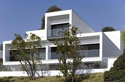 luxury white concrete house architecture design
