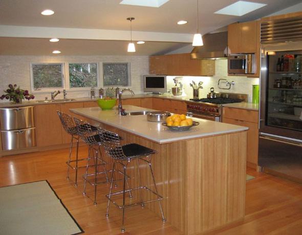 modern contemporary kitchen decorating design ideas