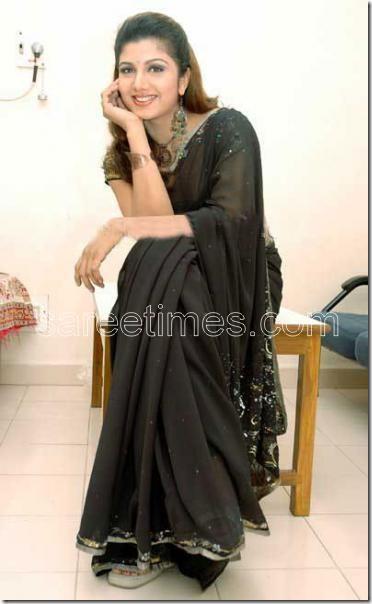 Rambha-Black-sari