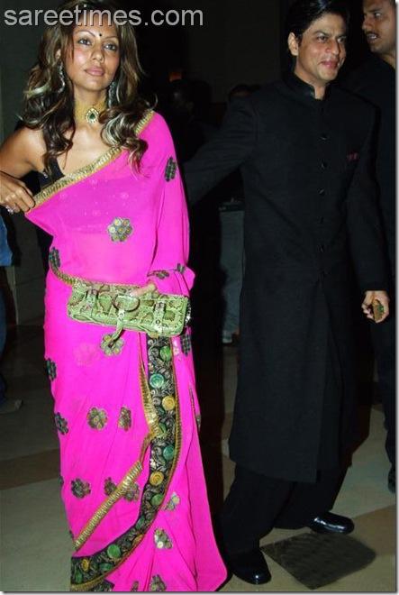 Gauri-Khan-Pink-Sari