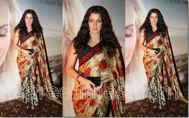 Celina-Jaitely-Floral-Printed-Sari