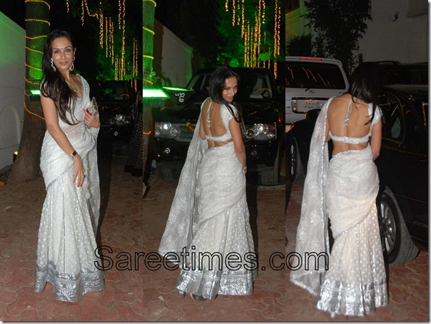 Maliaka_Arora_White_Sari