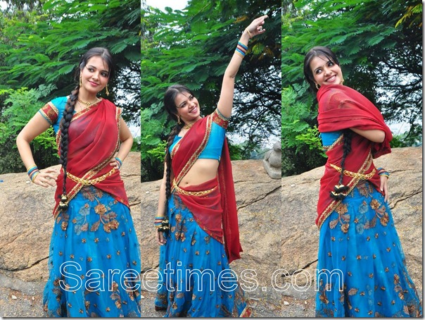 Saloni_Red_Half_Saree
