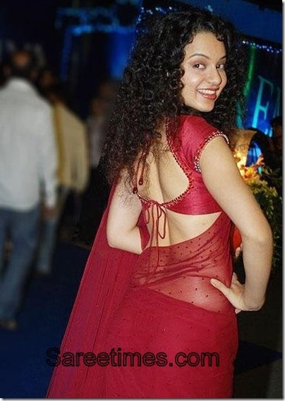 Kangana_Ranaut_Backless_Blouse_Saree