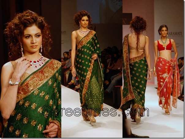 Malini_Vijay_Green_Saree