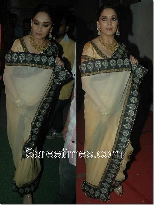 Madhuri_Cream_Designer_Sari