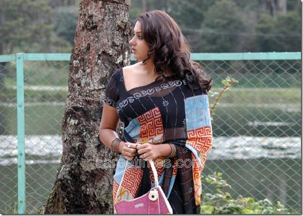 Namitha-Printed-Chiffon-Saree