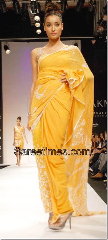 Satya_Paul_Yellow_Designer_Saree