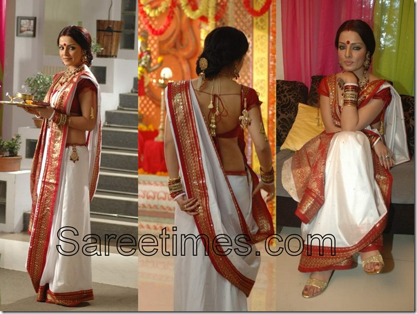 Celina_Jaitley_White_Traditional_Silk_Saree